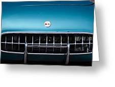 1954 Chevrolet Corvette Grille Emblem -249c Greeting Card