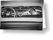 1954 Chevrolet Corvette Steering Wheel -139bw Greeting Card