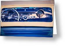 1954 Chevrolet Corvette Steering Wheel -139c Greeting Card
