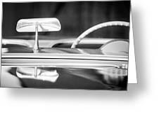 1954 Chevrolet Corvette Steering Wheel -311bw Greeting Card