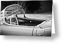 1954 Chevrolet Corvette Steering Wheel -407bw Greeting Card