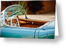 1954 Chevrolet Corvette Steering Wheel -407c Greeting Card