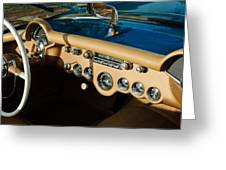 1954 Chevrolet Corvette Steering Wheel -502c Greeting Card