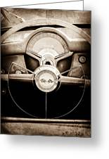 1954 Chevrolet Corvette Steering Wheel Emblem Greeting Card