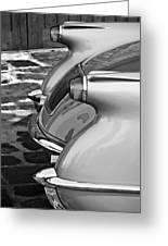 1954 Chevrolet Corvette Taillights -304bw Greeting Card