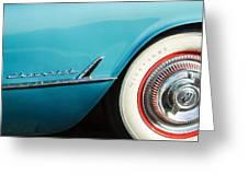 1954 Chevrolet Corvette Wheel Emblem -282c Greeting Card