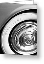1954 Chevrolet Corvette Wheel Emblem -290bw Greeting Card