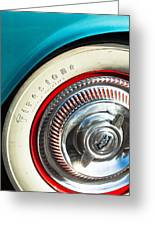 1954 Chevrolet Corvette Wheel Emblem -290c Greeting Card