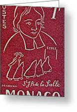 1954 De La Salle Monaco Stamp Greeting Card
