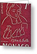 1954 De La Salle Monaco Stamp Greeting Card