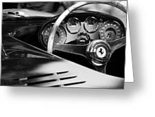 1954 Ferrari 500 Mondial Spyder Steering Wheel Emblem Greeting Card