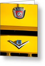 1954 Ford F-100 Custom Pickup Truck Emblems Greeting Card