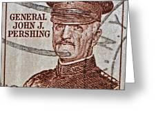 1954 General John J. Pershing Stamp Greeting Card