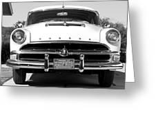1954 Hudson Hornet In Black Greeting Card