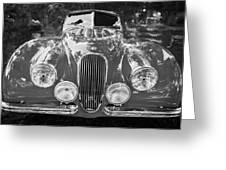 1954 Jaguar Xk 120 Se Ots Bw Greeting Card