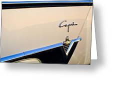 1954 Lincoln Capri Convertible Emblem 2 Greeting Card by Jill Reger
