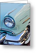 1954 Lincoln Capri Headlight Greeting Card