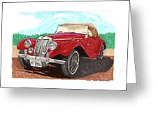 1954 M G T F  Greeting Card