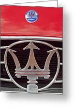 1954 Maserati A6 Gcs Emblem Greeting Card by Jill Reger