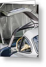1954 Mercedes-benz 300sl Gullwing Steering Wheel -1653c Greeting Card