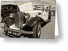 1954 Mg Td Sepia Greeting Card