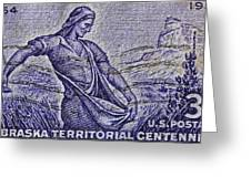 1954 Nebraska Territorial Stamp Greeting Card