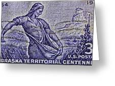 1954 Nebraska Territorial Stamp Greeting Card