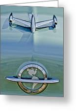1954 Oldsmobile Super 88 Hood Ornament Greeting Card