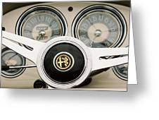 1955 Alfa-romeo 1900 Css Ghia Aigle Cabriolet Steering Wheel -2254 Greeting Card