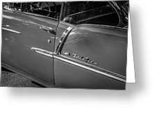 1955 Chevrolet Bel Air Bw  Greeting Card