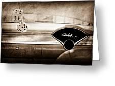 1955 Chevrolet Belair Dashboard Emblem Greeting Card