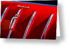 1955 Chevrolet Belair Nomad Hood Ornament -559c Greeting Card