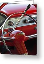 1955 Chevrolet Belair Nomad Steering Wheel Greeting Card