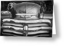 1955 Chevrolet First Series Bw Greeting Card