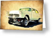 1955 Chevrolet Gasser Greeting Card