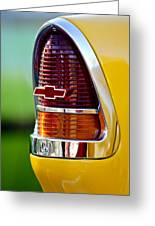 1955 Chevrolet Taillight Emblem Greeting Card