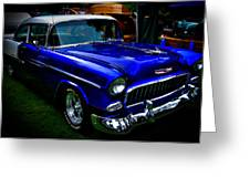 1955 Chevy Bel Air Greeting Card by David Patterson