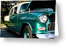 1955 Chevy Bel Air Down The Side Greeting Card
