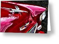 1955 Chevy Bel Air Hood Ornament Greeting Card