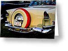 1955 Chevy Bel Air Rear Greeting Card