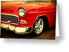 1955 Chevy Red Greeting Card