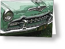 1955 Desoto Grille Greeting Card