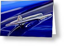 1955 Desoto Hood Ornament 3 Greeting Card