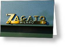 1955 Fiat 8v Zagato Emblem Greeting Card