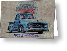1955 Ford F100 Illustration 2 Greeting Card
