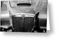 1955 Lancia Aurelia B24 Spyder America Roadster Grille -0278bw Greeting Card