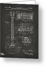 1955 Mccarty Gibson Les Paul Guitar Patent Artwork - Gray Greeting Card