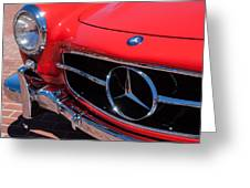 1955 Mercedes-benz 300sl Gullwing Grille Emblems Greeting Card