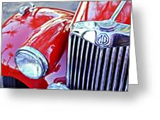 1955 Mg Tf 1500 Grille Greeting Card