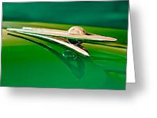 1955 Packard Clipper Hood Ornament 3 Greeting Card